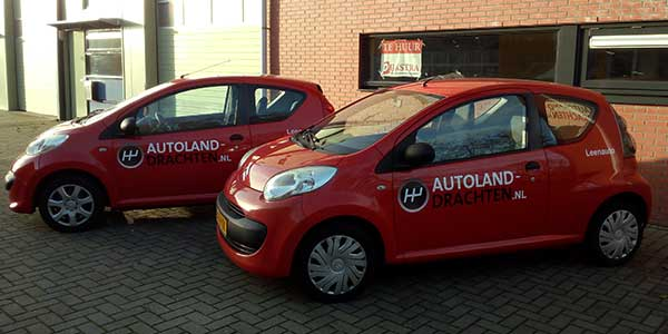 Autoland Drachten Leenauto JSV-IC-T & Reclame