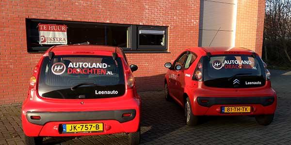 Autoland Drachten Leenauto's JSV-IC-T & Reclame