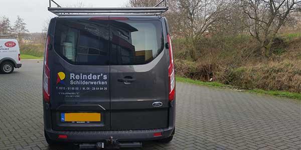 Autoreclame JSV-ICT & Reclame Reinder's Schilderwerken Achterkant