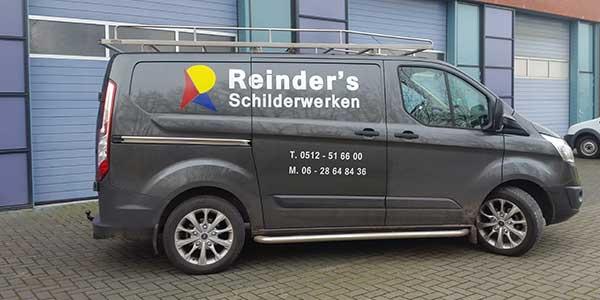 Autoreclame JSV-ICT & Reclame Reinder's Schilderwerken Zijkant