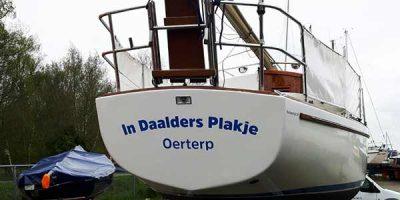 Boot belettering In Daalders Plakje Oerterp