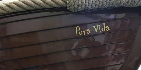 Pura Vida Boot belettering JSV-ICT & Reclame