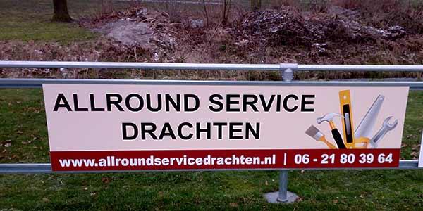 Reclamebord Allround Service Drachten