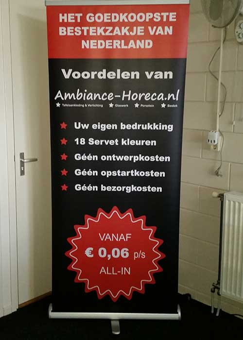Roll up banner Ambiance Horeca