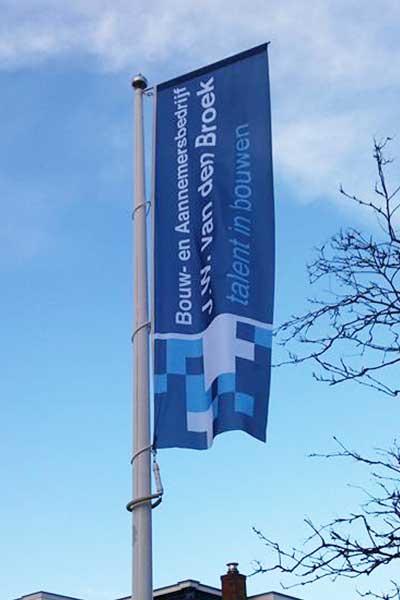 Baniervlag Bouwbedrijf JW van den Broek