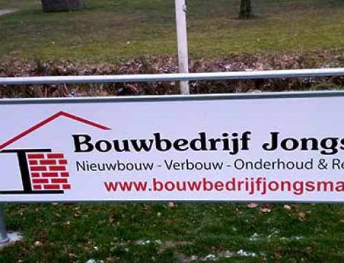 Reclamebord Bouwbedrijf Jongsma Frieschepalen