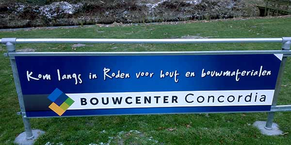 Reclamebord Bouwcenter Concordia Roden
