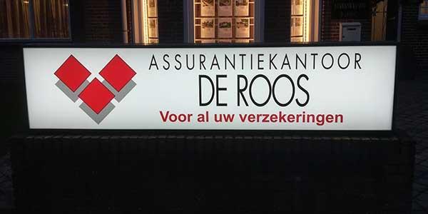 Lichtreclame Assurantie de Roos Ureterp