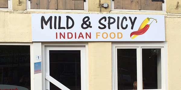 Reclamebord Mild & Spicy Leeuwarden