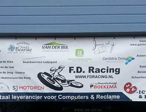 Spandoek Drachten JSV-ICT en Reclame – FD Racing