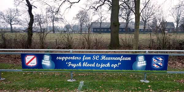 Reclamebord Supporters fan SC Hearrenfean