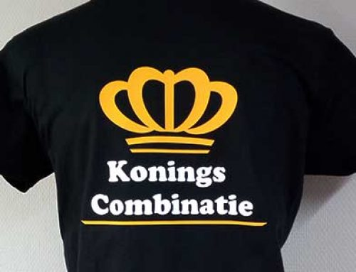 T-shirt bedrukking Konings Combinatie