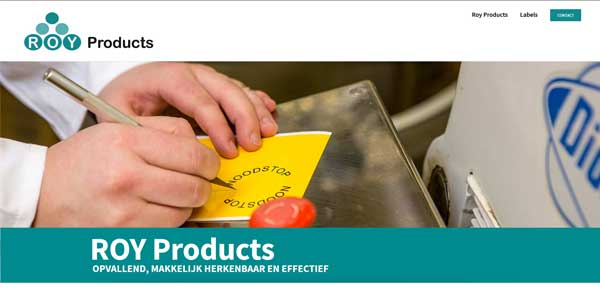 Webdesign Den Helder Roy Products