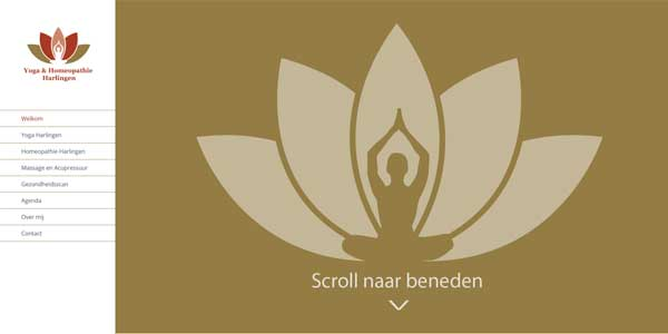 Webdesign Harlingen Yoga & Homeopathie Harlingen