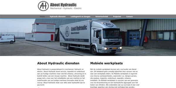 Webdesign Noardburgum About Hydraulic