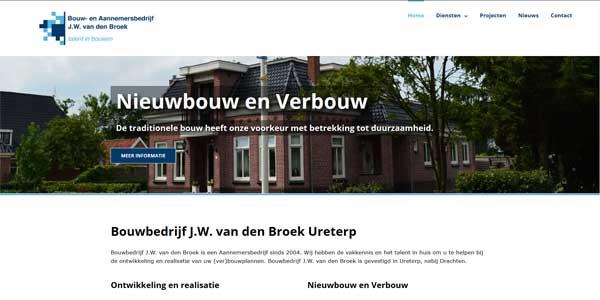 Webdesign Ureterp Bouwbedrijf.W. van den Broek