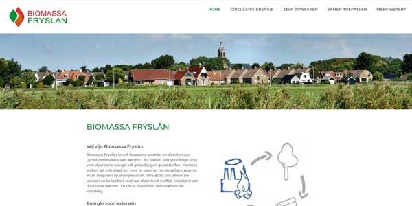 Website Dronrijp Biomassa Fryslân