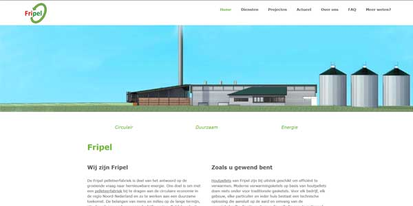 Website Dronrijp Fripel