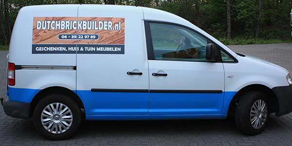 Autoreclame-Magneetsticker dutchbrickbuilder Drachten
