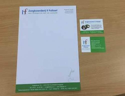 Briefpapier en Visitekaartjes Zorgboerderij It Fallaet Drachtstercompagnie