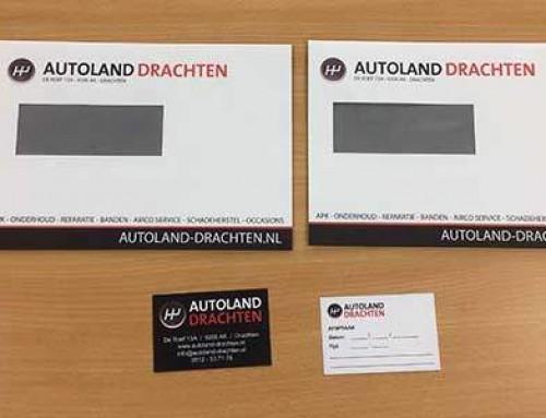 Enveloppen en Afsprakenkaartjes voor Autoland Drachten