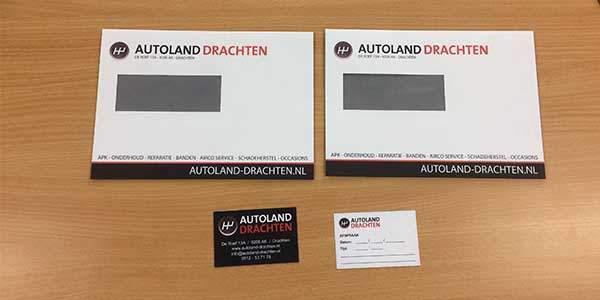 Enveloppen En Afsprakenkaartjes Voor Autoland Drachten Jsv Ict