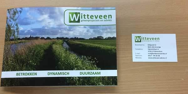 Flyers en visitekaartjes Witteveen-Advies en Groenprojecten Dronrijp