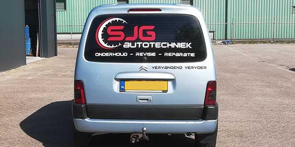 SJG Autotechniek Achterkant