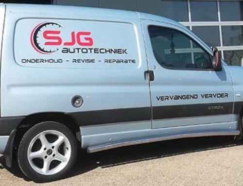 Autobelettering SJG Autotechniek Drachten