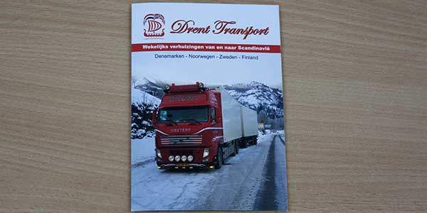 Voorkant Flyer Drent Transport