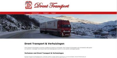 Webdesign Drent Transport en Verhuizingen Ureterp
