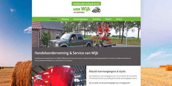 Webdesign Handelsonderneming van Wijk Wijnjewoude