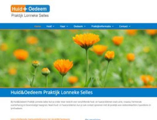 Webdesign HuidplusOedeem Marum/Groningen
