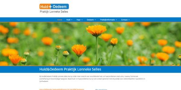 Webdesign HuidplusOedeem Groningen Marum
