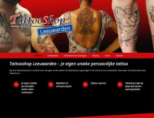 Webdesign Tattooshop Leeuwarden