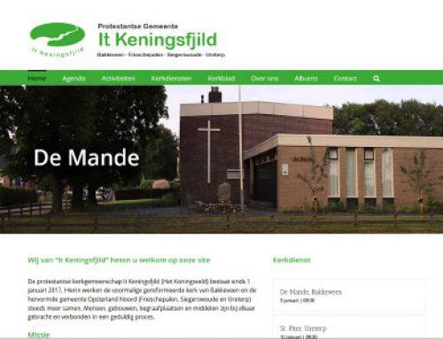 Webdesign – It Keningsfjild Ureterp, Frieschepalen, Siegerswoude en Bakkeveen