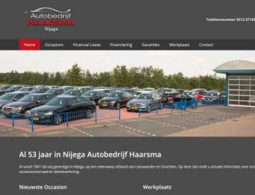 Website Nijega Autobedrijf Haarsma Nijega