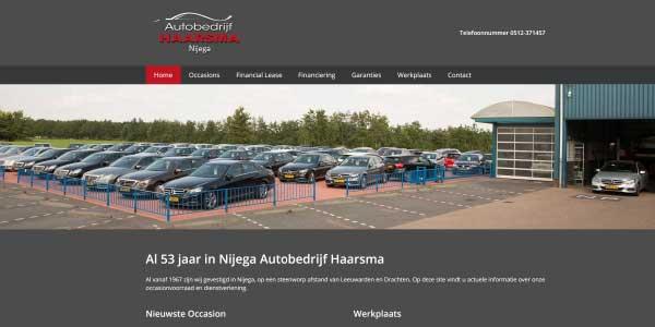 Webdesign Autobedrijf Haarsma Nijega
